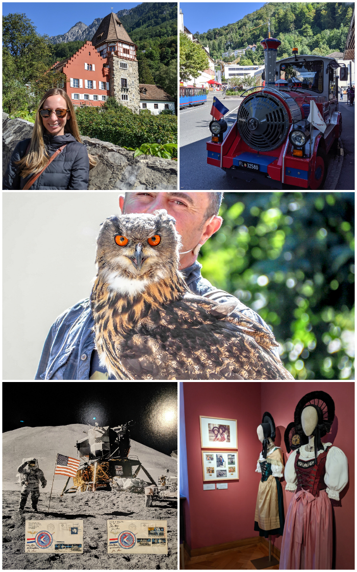 The Red House   Riding the Citytrain   the bird of prey show in Malbun   the Postal Museum   the Liechtenstein National Museum