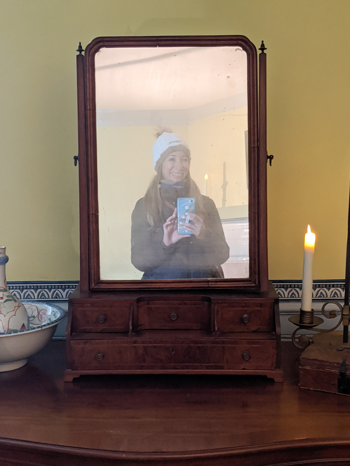One of the mirrors inside George Washington's house at Mount Vernon   Another long weekend in Washington, D.C.