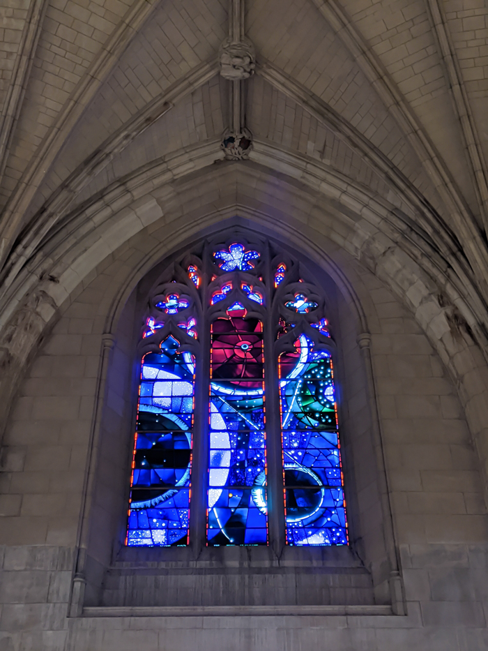 Space window at Washington National Cathedral   Another long weekend in Washington, D.C.