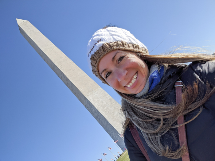 Selfie in front of the Washington Monument   Another long weekend in Washington, D.C.