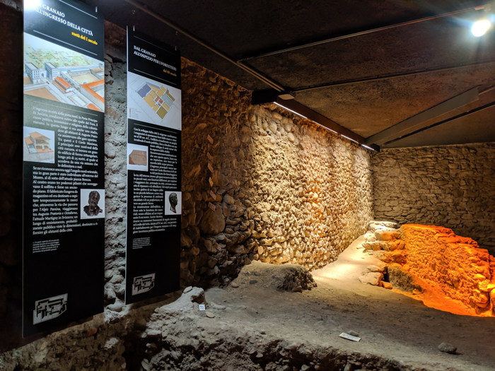 Inside the Regional Archaeology Museum | How to Spend 1 Day in Aosta, Italy // The Capital of the Aosta Valley | Things to see in Aosta, Things to do in Aosta, Where to eat in Aosta, the smallest of Italy's 20 regions #aosta #italy #aostavalley #traveltips #timebudgettravel #romanruins #ancient #ruins