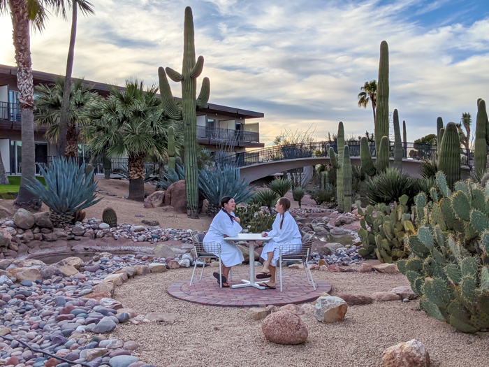 4 Days in Scottsdale, Arizona // A Jam-Packed Itinerary With a Bit of Everything | Things to do in Scottsdale: walking through the cactus garden at Civana #cactus #robelife #wellness #spa #scottsdale #arizona