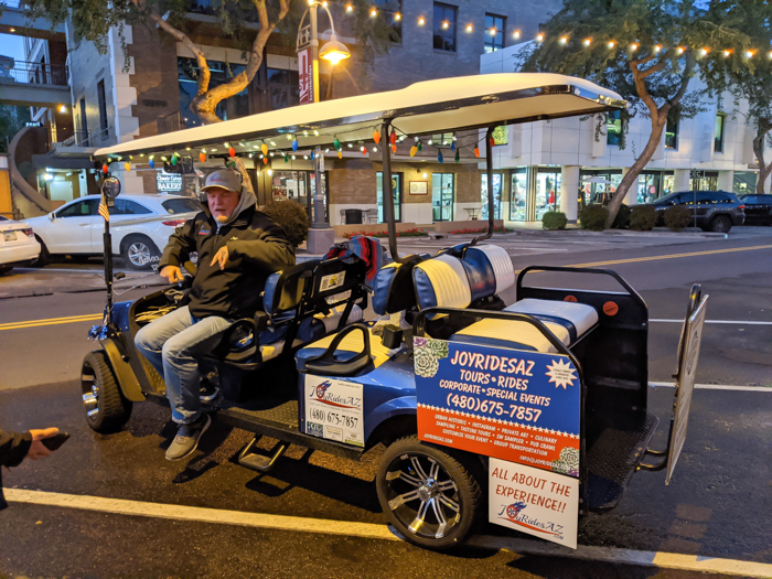 4 Days in Scottsdale, Arizona // A Jam-Packed Itinerary With a Bit of Everything | Things to do in Scottsdale: Golf Cart Tour of Old Town Scottsdale with JoyRidesAZ #golfcart #scottsdale #oldtown