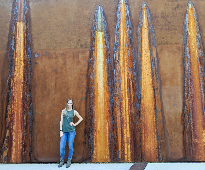 4 Days in Scottsdale, Arizona // A Jam-Packed Itinerary With a Bit of Everything | Things to do in Scottsdale: Western Spirit: Scottsdale's Museum of the West, rust wall art #scottsdale #museum