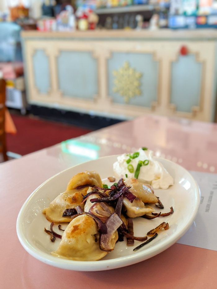 Pierogies for lunch at Gaufres and goods / 1 day in St. Augustine, Florida: A quick trip to America's oldest city / 24 hours in St. Augustine / day trip to St. Augustine from Jacksonville or day trip to St. Augustine from Orlando