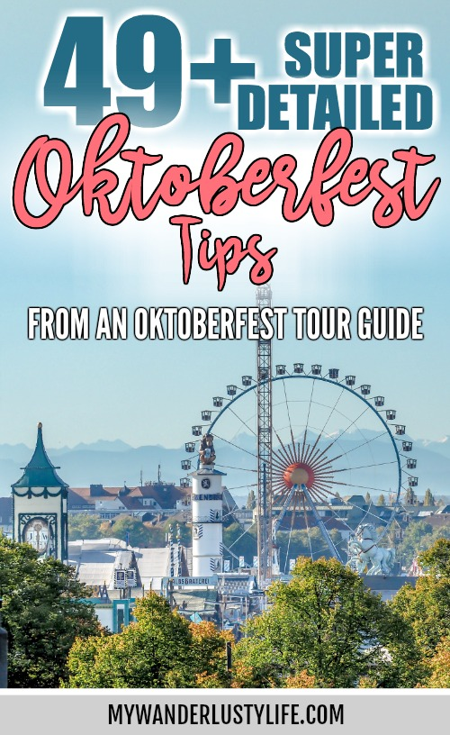 Super Detailed Oktoberfest tips from an Oktoberfest tour guide and locals / what you need to know about oktoberfest in munich, germany #oktoberfest #munich #germany #oktoberfesttips #traveltips #bavaria #wiesn