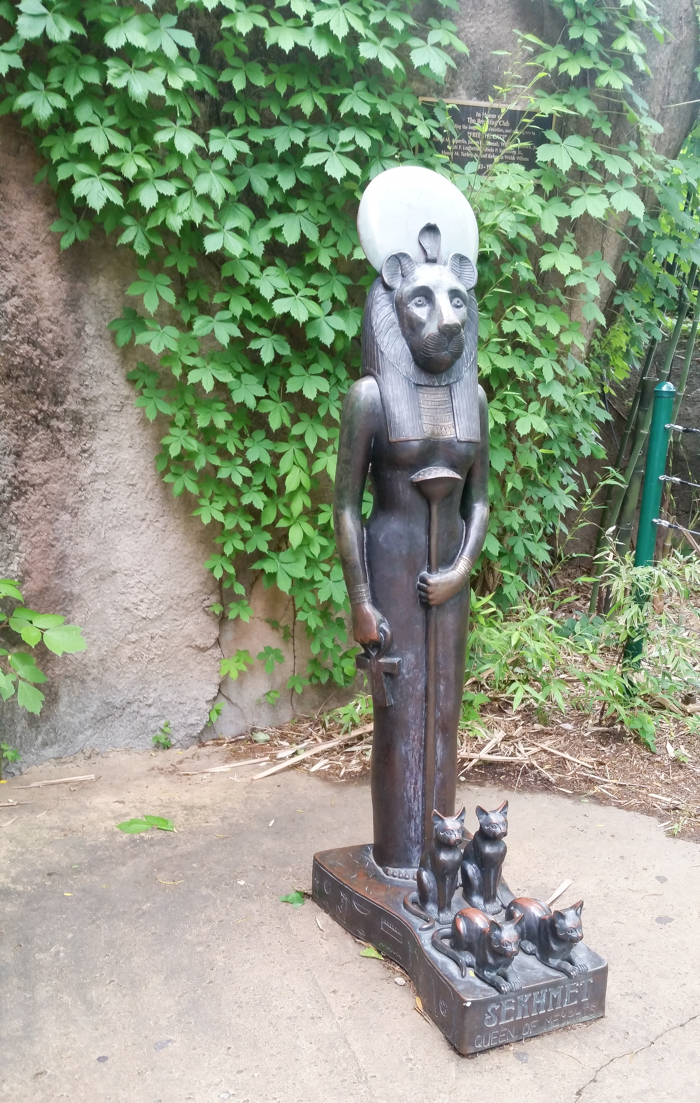 Sekhmet statue at the Memphis Zoo in Tennessee