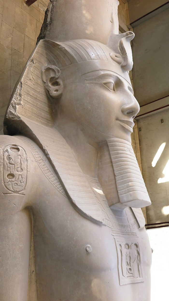 Ramses II statue in Memphis Egypt at open air museum