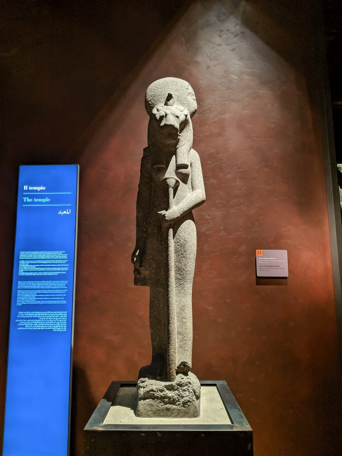 Statue of Sekhmet at the Egyptian Museum in Turin, Italy