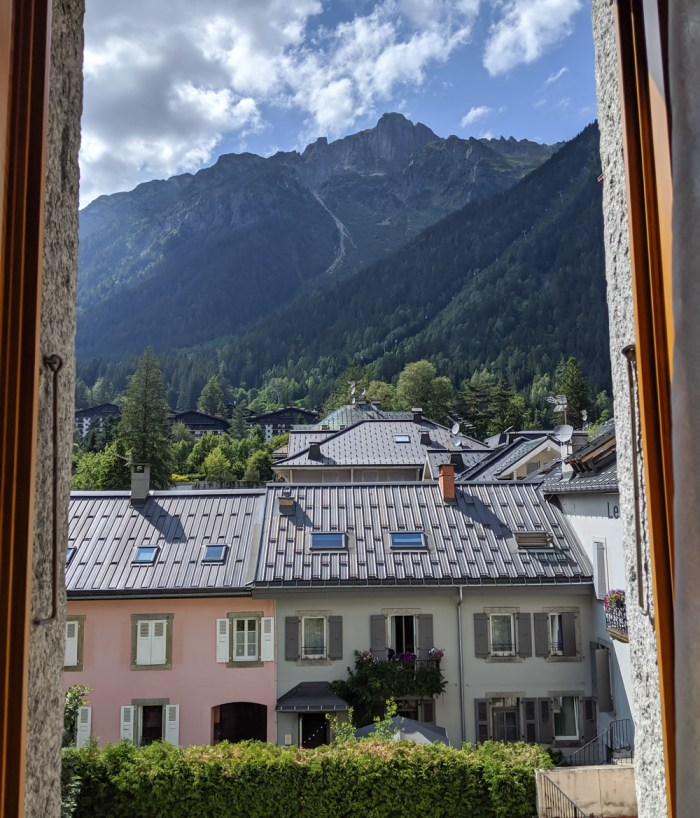 Chamonix in the summer travel guide: Where to stay in Chamonix, the view from my room at Hotel Croix Blanche