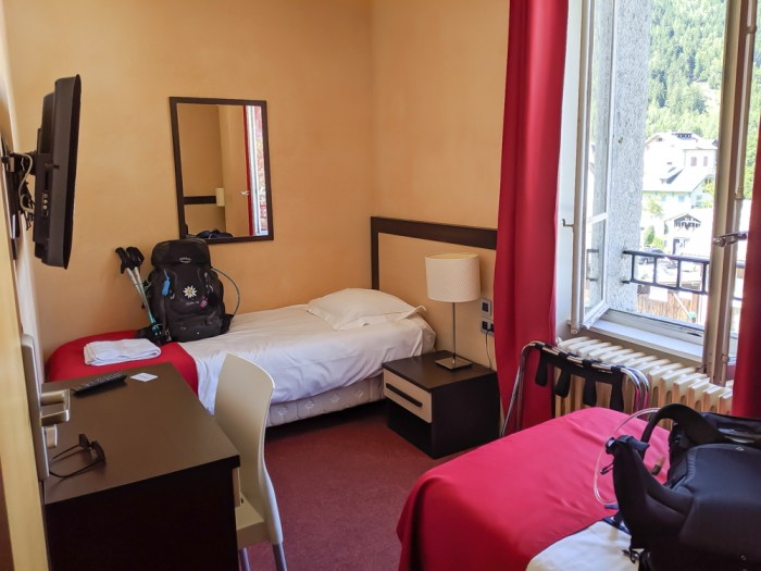 Chamonix in the summer travel guide: Where to stay in Chamonix, my room at Hotel du Louvre