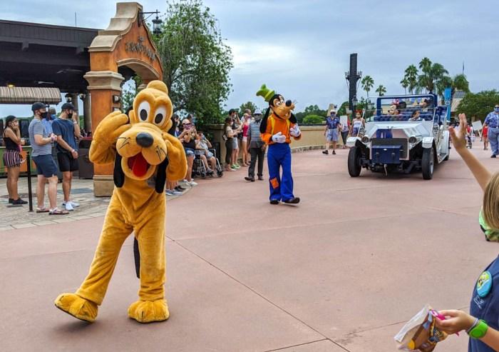 Pluto and Goofy at Disney World