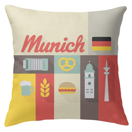 oktoberfest gift ideas, perfect gifts for oktoberfest lovers: munich throw pillow