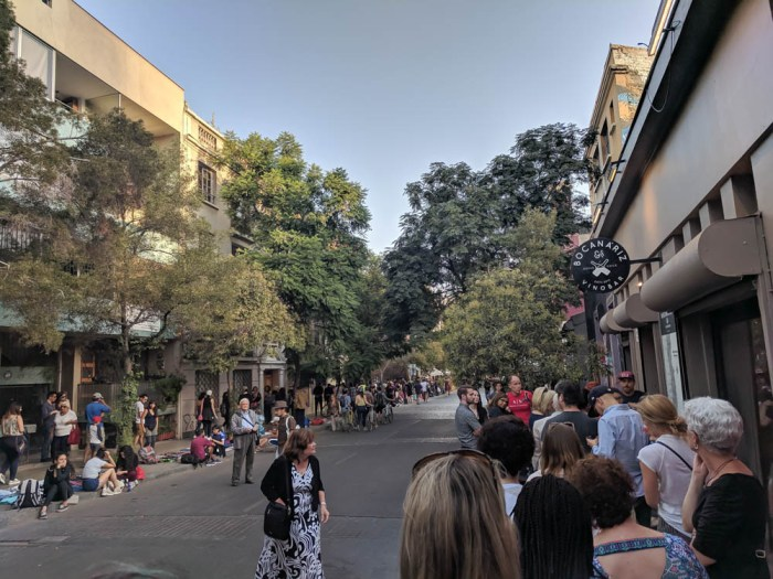crowds in Santiago Chile | Must-Have Travel Safety Items: 17 Essentials for Your Travel Safety Kit | Travel health and safety | solo female travel safety