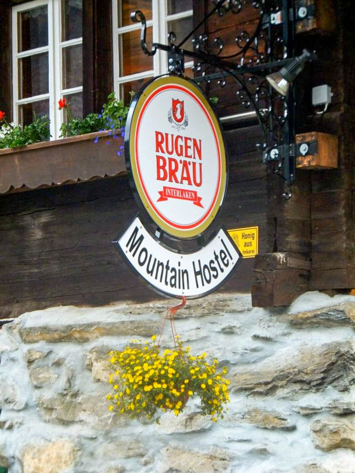 Rugenbrau beer at Mountain Hostel | Where to stay in Gimmelwald, Switzerland: Mountain Hostels and B&Bs | Best places to stay in Gimmelwald