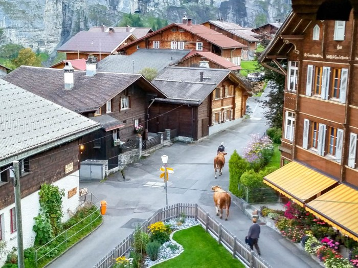Esther's Guesthouse view | Where to stay in Gimmelwald, Switzerland: Mountain Hostels and B&Bs | Best places to stay in Gimmelwald