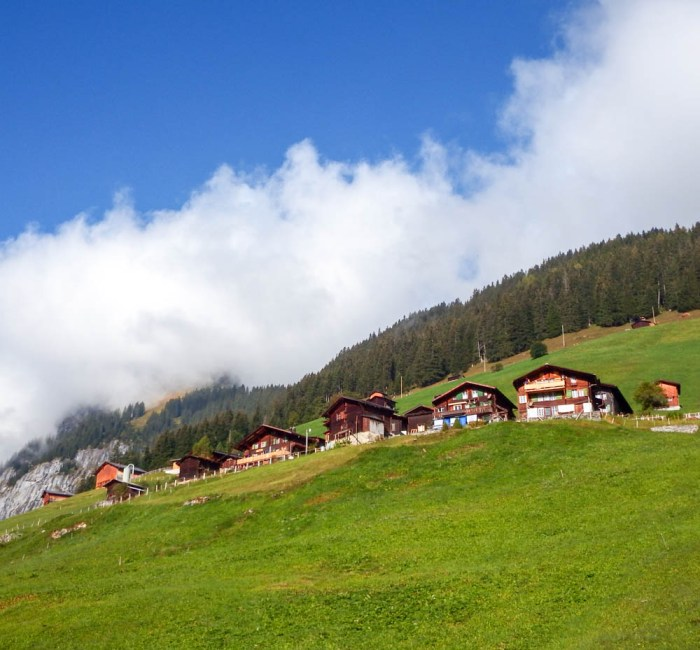 Mountain chalets in the Swiss Alps | Where to stay in Gimmelwald, Switzerland: Mountain Hostels and B&Bs | Best places to stay in Gimmelwald
