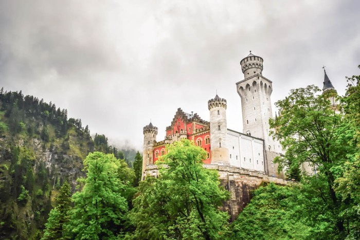 Close-up front view | Where to stay near Neuschwanstein Castle: 12 Best Hotels and Airbnbs in Hohenschwangau, Schwangau, and Füssen