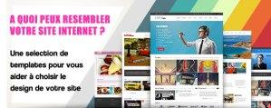 template design site internet