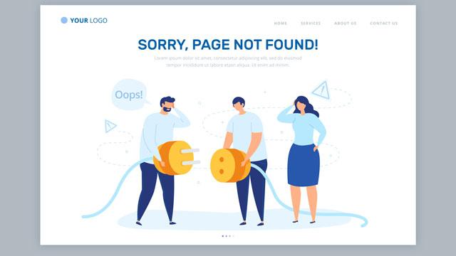 messaggio errore testo copywriting siti web e-commerce app
