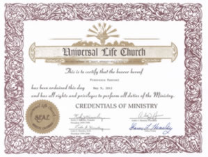 Certified Wedding Celebrant symbolic Humanist Non denominational certificate