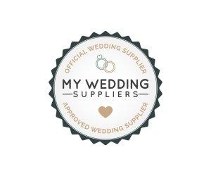 My Wedding Supplier Badge Dark Colour - Home