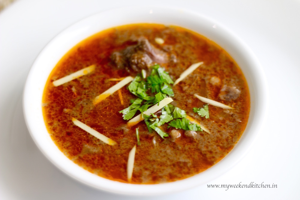 Mutton nihari recipe, beef nihari recipe