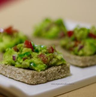 Avocado bruschetta breakfast