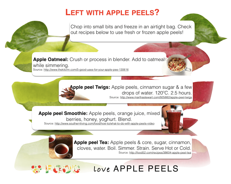 How to use leftover apple peels