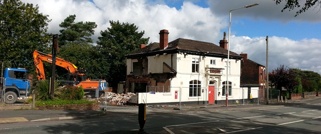 Pub demolition halted by council bosses