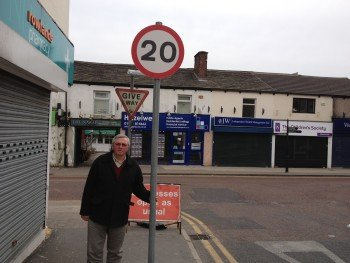 Councillor David Wilkinson looks at the new 20mph zone for Market Street