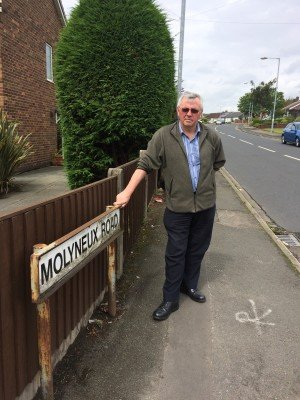 Councillor David Wilkinson at the Molyneux Road / Park Road junction