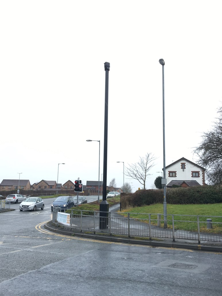 Mystery pole on Wigan Road