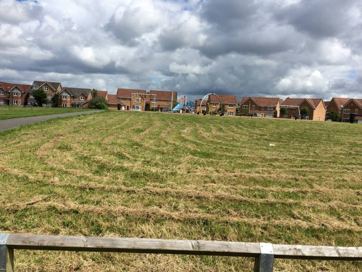 The grass is cut at Summerfields