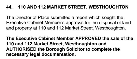 Proof that Labour sold the Market Street buildings