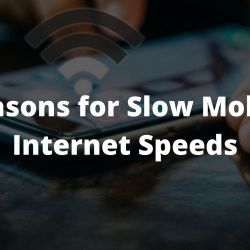 Reasons for Slow Mobile Internet Speeds