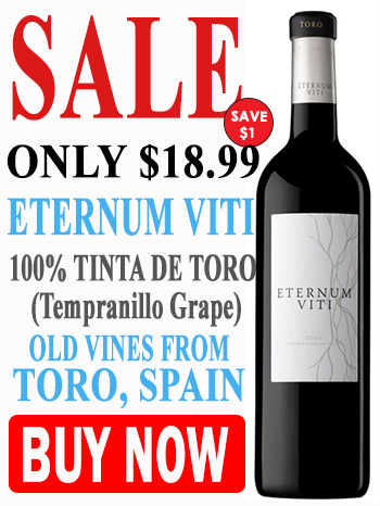 Buy Spanish Eternum Viti wine from Tempranillo grapes on sale