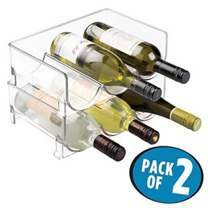 Stackable Wine Bottle Storage Rack for Kitchen Countertops, Cabinet