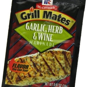 McCormick Grill Mates Garlic, Herb & Wine Marinade, 0.87 oz (Case of 12)