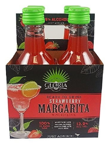 Rancho La Gloria Rtd Strawberry Margarita Moscato 187 Ml 4 Ct