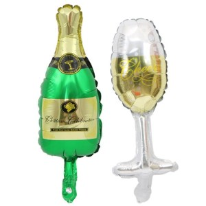 Wine glass bottle mini balloon baby shower children's birthday party decorating wedding supplies balloon toys