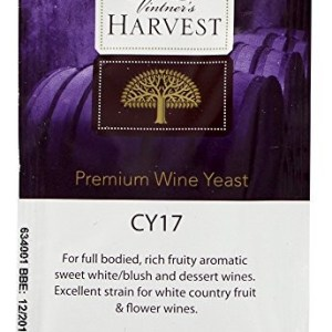 Vintner's Harvest Wine Yeast - CY17 8g treats 23L Sweet White Blush Dessert