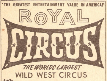 WJU MYWJU Windjammers Circus Program Wild West Show