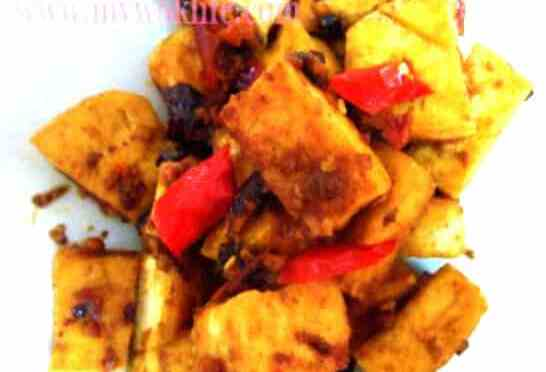 Fried Tofu with Chilli Black Bean Paste