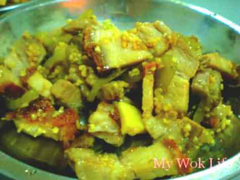 Stir fried Salted vegetables and roast pork