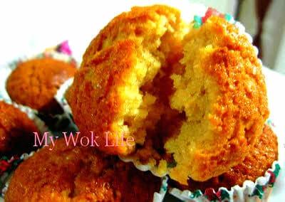 Vegetarian Almond Cup Cakes Recipe (Eggless Cake)