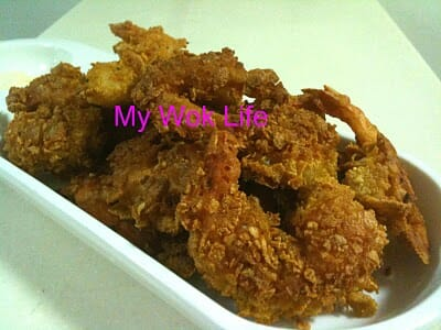 Fried cornflakes prawns