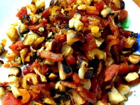 Stir fried glutinuos rice