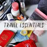 I never leave home without these 9 Travel Essentials! Maybe you shouldn't too!