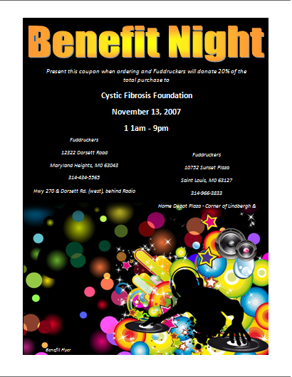 Benefit Flyer Template Microsoft Word Templates